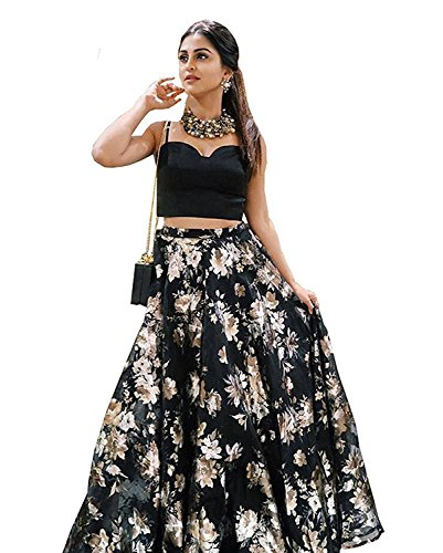 Granthi Creation Women's Embroidered Anarkali Gown (Black Color_Free Size)