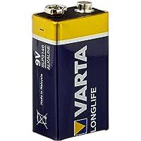 Varta Longlife 9V Block 6LR61 Batterie (1er Pack) Alkaline E-Block Batterien - ideal für Feuermelder Rauchmelder…