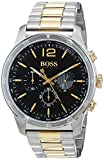 Hugo BOSS Herren Chronograph Quarz Uhr mit Edelstahl Armband 1513529