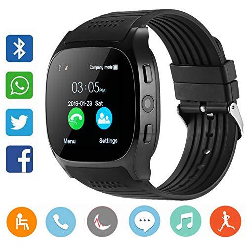CanMixs CM02 Bluetooth Smart Watch Pulsera Deportiva Soporte de SIM y tarjeta TF Con cámara Sincronización de mensajes Compatible Con IOS Android Xiaomi Samsung Huawei Teléfonos