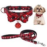 Legendog Haustierhalsband Glocke Bowknot Katzenhalsband Hundehalsband Dekorativ Mit Haustier Leine