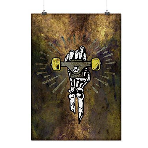 Schlittschuh Skelett Mode Mattes/Glänzende Plakat A3 (42cm x 30cm)   Wellcoda (Skelett Sweat Anzug)