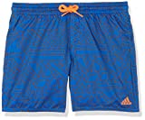 adidas Jungen Graphic M Length Badehose, Blue/Hi-Res Orange, 176
