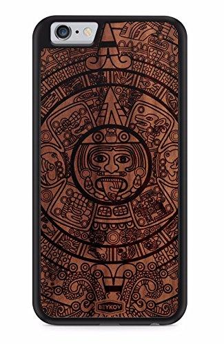 BEYKOV TPU Holz Handy Hülle Tasche Cover Case Schale Maja für Huawei (Huawei Mate 10 Lite, Nussbaum) -