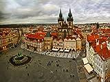 Paragon Square–Prag von Julia shepeleva–Bild Foto auf Alu Dibond–Größe 60cm x 45cm–System von Haltevorrichtungen von Schienen Aluminium–Referenz 300297dbl3r-60