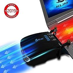 KLIMTM Tornado Refroidisseur PC Portable - Nouveau + INNOVANT - Refroidissement Rapide - Extracteur d'air USB pour Ordinateurs Portables - Compact + Léger + Puissant + Efficace Contre la Surchauffe