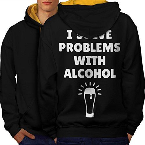 Lustig, Urkomisch Bier (Bier Alkohol Sprichwort Komisch Alkohol Men M Kontrast Kapuzenpullover Zurück | Wellcoda)