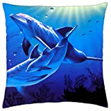 Dolphin cristiana Riese Lassen - Throw Pillow Cover Case (18