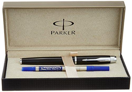Parker S0893630Kugelschreiber im Metall schwarz CT Tintenroller