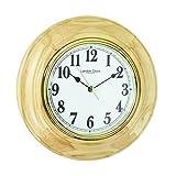 7fe859068ba Mecanismo de cuarzo de madera Batería de pared de madera redonda reloj de  chimenea