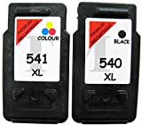 Office Supplies Best Deals - Remanufacturados Canon PG-540 XL negro & CL-541 XL Cartuchos de tinta a color para Pixma MG2100, MG2140, MG2150, MG2250, MG3150, MG3250, MG4150, mg2255, MG2250, MG3140, MG3150, MG3250 - Red Edition, MG3155, MG3150, MG3200, MG3250, MG3255, MG3500, MG35