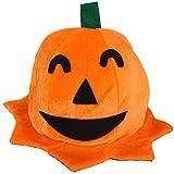 Costume d'Halloween,Manadlian COS Halloween citrouille chapeau citrouille motifs peluche Top orange chapeaux (A)
