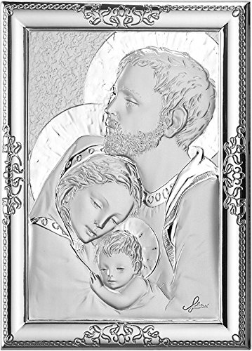 Ferrari & Arrighetti Cuadro Sagrada Familia en Placa de Plata - 12 x 9 cm