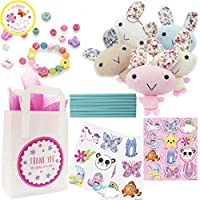 The Curious Caterpillar Girls Party Bags - Ready To Fill Paper Party Bag with an assortment of party bag fillers with Tissue Paper. (Cute Bunny)