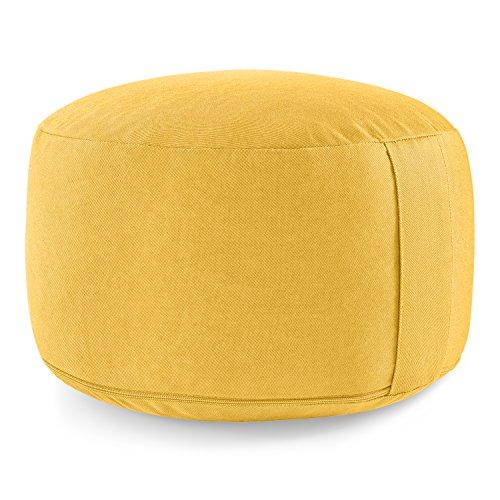 Lotuscrafts Meditationskissen/Yogakissen Lotus - extra hoch (20 cm) - Yoga Sitzkissen mit Dinkelfüllung (Dinkelspelz) - waschbarer Bezug aus Baumwolle (KBA) - GOTS Zertifiziert