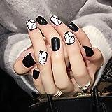 Cura delle unghie 24PCS Yunail inchiostro e lavare pittura unghie finte, nail art tip rare