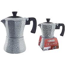 Caffettiera Moka 1 Tazza Caffè Manico Anti Scottature Colore Grigio Pietra Kasaviva