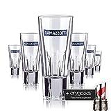 6 x Ramazzotti Glas / Gläser Schnapsglas Likör Gastro Bar Deko