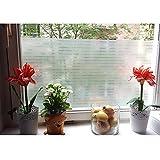 Aingoo Streifen Blickdicht Fensterfolie Sichtschutzfolie Window Film Selbstklebend Klebefolie 128 45x200cm