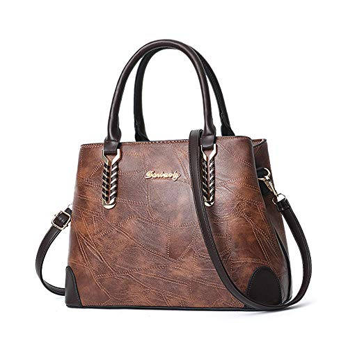 Fyyzg Damen Handtaschen Europa und den Vereinigten Staaten Modetrend Umhängetasche lässig - Retro gelb