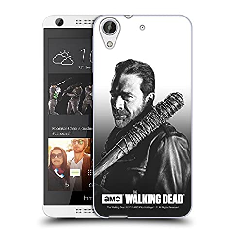 Officiel AMC The Walking Dead Negan Portraits Filtrés Étui Coque en Gel molle pour HTC Desire 626