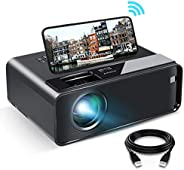 Mini Projector for iPhone, ELEPHAS 2020 WiFi Movie Projector with Synchronize Smartphone Screen, 1080P HD Port