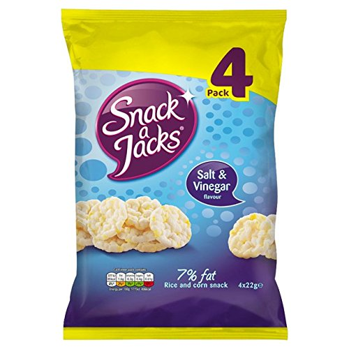 Preisvergleich Produktbild Snack a Jacks Salt & Vinegar 4 x 22g