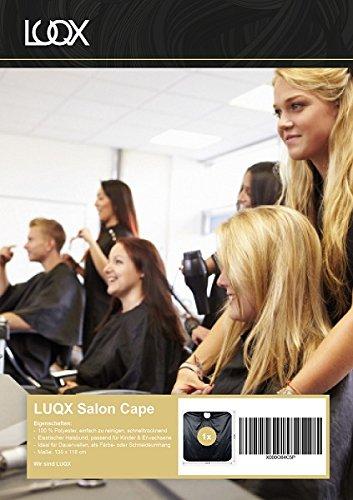 LUQX Salon Cape Friseurumhang schwarz wasserabweisend Haarschneideumhang Frisierumhang Färbeumhang