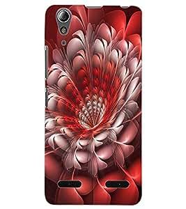 ColourCraft Beautiful Flower Design Back Case Cover for LENOVO A6000 PLUS