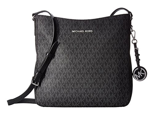 MICHAEL Michael Kors Jet Set Travel Large Logo Messenger (Schwarz) -