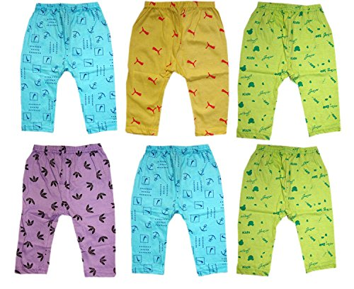 Kids Boys and Girls Cotton Diaper fit Pyjama Pack of 6 (2-3 Years)