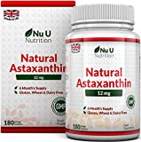 Astaxanthin 12mg – 180 Softgels (6 Month Supply) – Astaxanthin From Nu U Nutrition