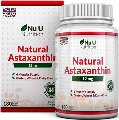 Astaxanthin 12mg – 180 Softgels (6 Month Supply) – Astaxanthin From Nu U Nutrition Test
