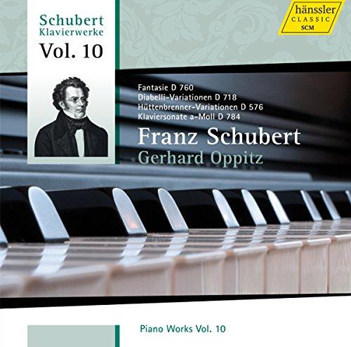 Schubert : Les oeuvres pour piano, vol. 10. Oppitz.