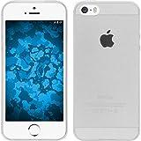 PhoneNatic - Cover slim per Apple iPhone 5/5S/SE in silicone grigio, con 2 pellicole protettive