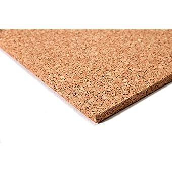 Planchas de corcho (50 x 100 cm, 20 mm grosor, elástico y antiestático)