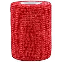 STpro Selbstklebender Verband Tape Fixierverband Selbsthaftende Bandage 7,5cm x 6 Stück Rot Tape Haftbandage Cohesive... preisvergleich bei billige-tabletten.eu