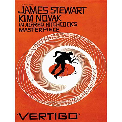 MOVIE FILM VERTIGO 1958 USA SAUL BASS JAMES STEWART HITCHCOCKS NEW FINE ART PRINT POSTER PICTURE 30x40 CMS CC3364 -