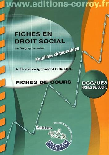 Droit social UE 3 du DCG : Fiches