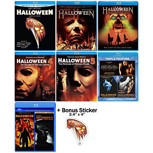10 Movie Collection - Complete Original + Rob Zombie Remake Blu-ray Series + Bonus Sticker ()