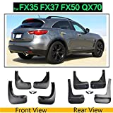RAISSER® Set Mud Flaps for Infiniti G25 G35 G37 Q40 Q50 Q50S QX30 JX35 QX60 FX S51 FX35 FX37 FX50 QX70 Mudflaps Splash Guards Mudguards