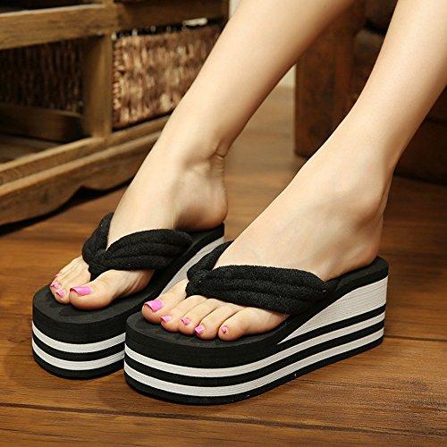 Estate Sandali Tacchi alti donna donne fresche scarpe da spiaggia (36/37/38/39) Colore / formato facoltativo 1001