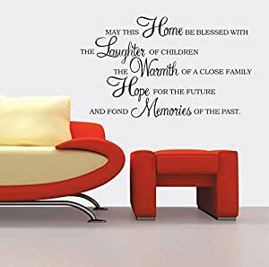 UberLyfe Pigmented Paint-Like Blessed Home Quotation Wall Sticker (Wall Covering Area: 55cm x 90cm) - WS-000848-PV