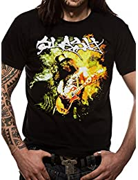 Slash Flames Official Rock Heavy Metal Music Guns n Roses Tee T Shirt Unisex