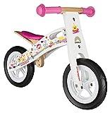 BIKESTAR® Premium Kinderlaufrad für kleine Abenteurer ab 2 Jahren ? 10er Natur Holz Edition ? Prinzessinnen Weiß