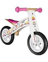 BIKESTAR® Original Premium Kinderlaufrad für kleine Abenteurer ab 2 Jahren ★ 10er Natur Holz Edition ★ Prinzessinnen Weiß