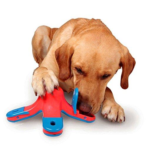 CLKJCAR- Juguetes de entrenamiento para perros, juguetes educativos, alimentador para perro, puzle, juguete para comida para perro, bol de comida lenta