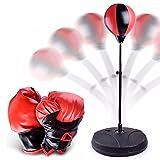 Ulanda Punchingball Boxen set mit Boxhandschuhen & Pumpe für Kinder Jugend Stress HausTraining, Standboxsäcke, Fight Ball Reflex, Punch Übung für Boxen, MMA und andere Combat Sports