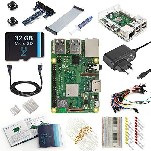 V-Kits Raspberry Pi 3 Model B+ (Plus) Ultimate Starter Kit (EU Edition) -Enthalt: Raspberry Pi 3 Model B+ (Plus) mit 12 Wesentlich Zubehö (Raspberry Model Pi B Bundle)