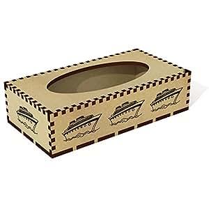 Azeeda Long 'Cruise Ship' Wooden Tissue Box Cover (TB00027178)